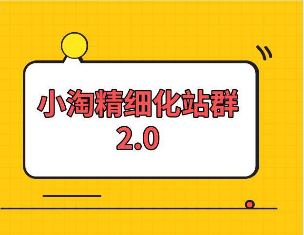 小淘学社:实操精细化网站站群项目【全套视频教程】-福缘课堂