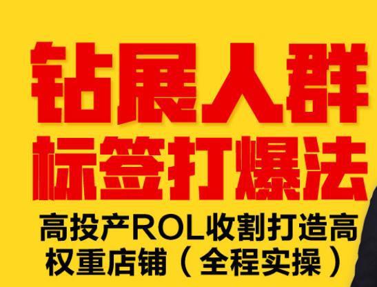钻展人群标签打爆法,高投产ROL收割打造高权重店铺(全程实操)-福缘课堂